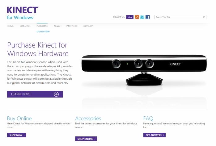 Microsoft comienza a vender Kinect para Windows | Tecnomundo