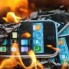 iphone burning