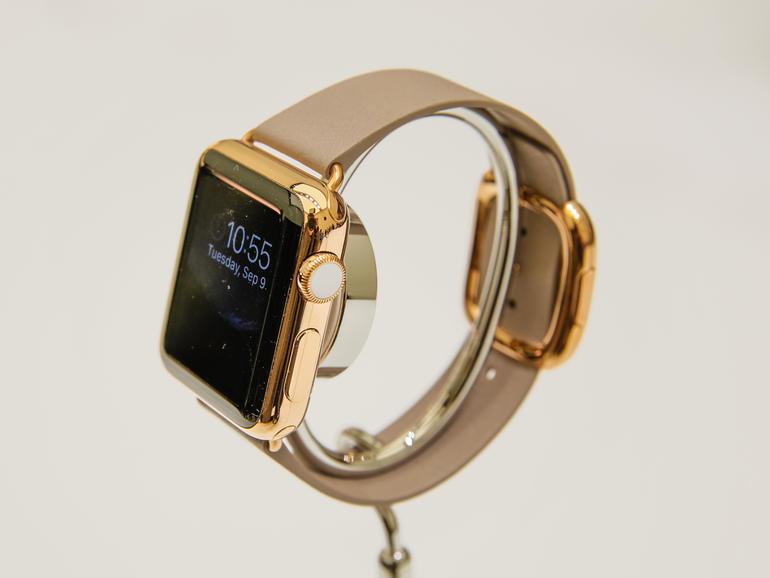 reloj de oro de apple