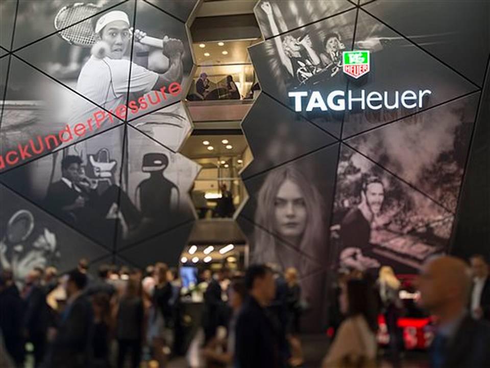 El kiosko de TagHeuer en la exposición de relojes suizos