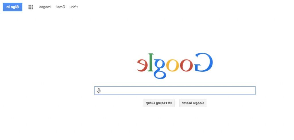 google al reves