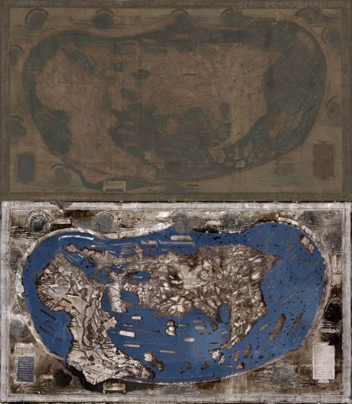 Un mapa utilizado por Cristóbal Colón cuando planeaba su viaje a América  es procesado utilizando la tencnología de PIM