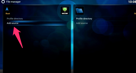Add source Kodi